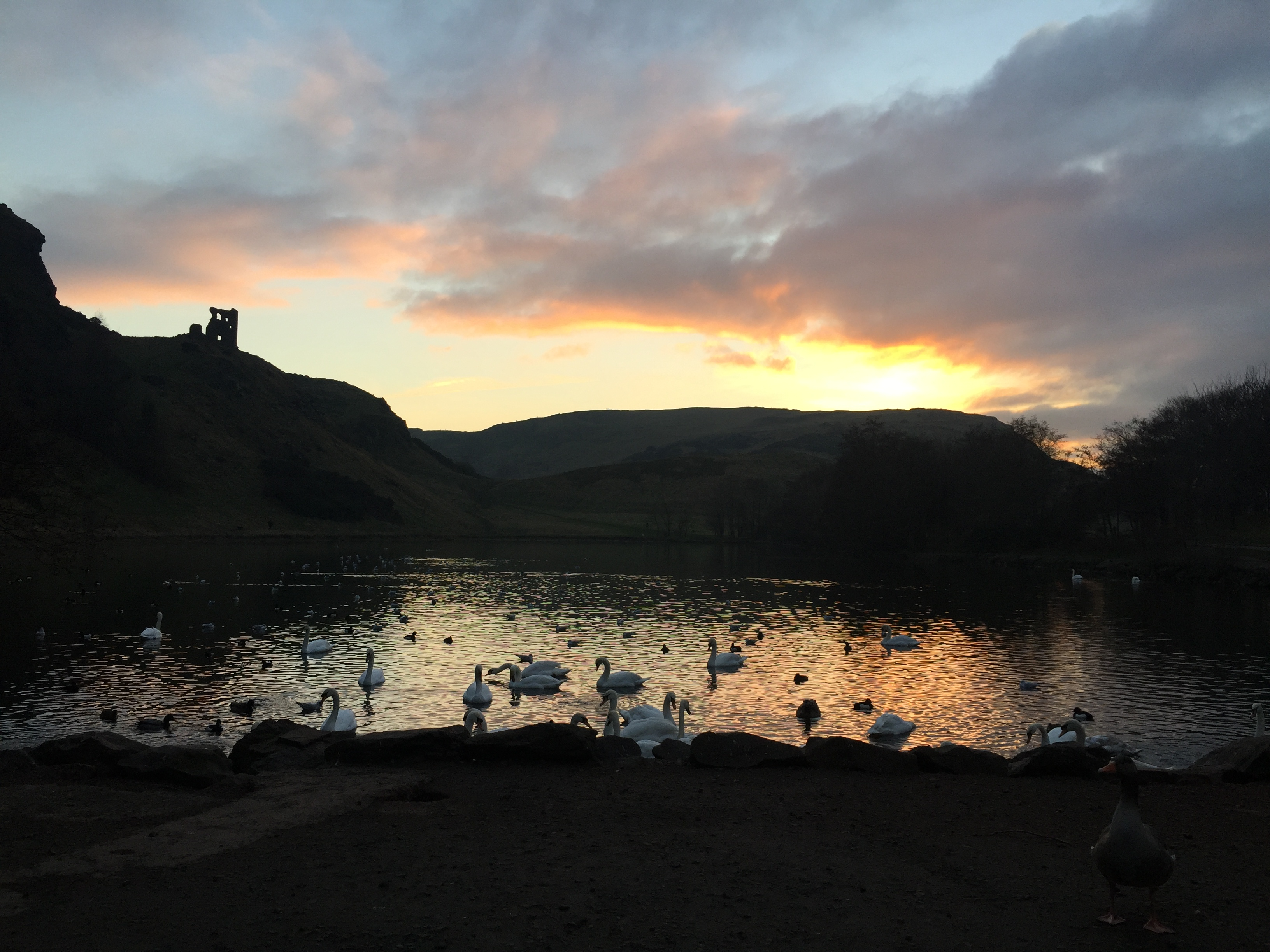 Sunset at Holyrood Park