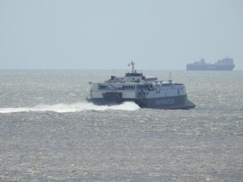 Heysham:  Ferries heading toe the Isle of Man