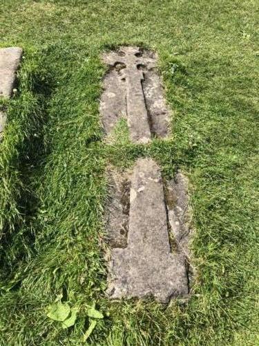 Heysham: Gravestone at St Patrick's Chapel