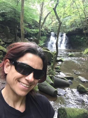 Goit Stock Falls Hike: Selfie at the falls