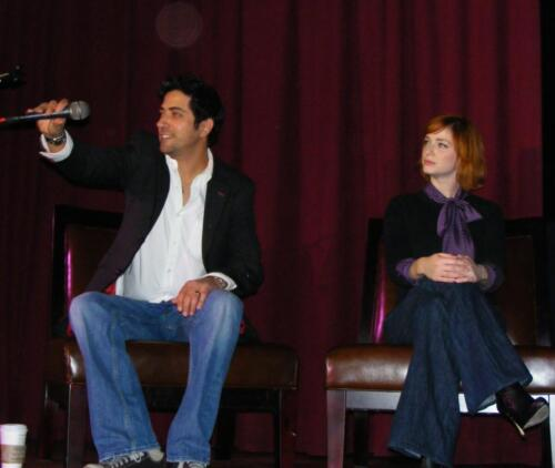 Yan Feldman and Christina Hendricks